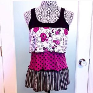 Disney Minnie Mouse Floral Layered Ruffle Top